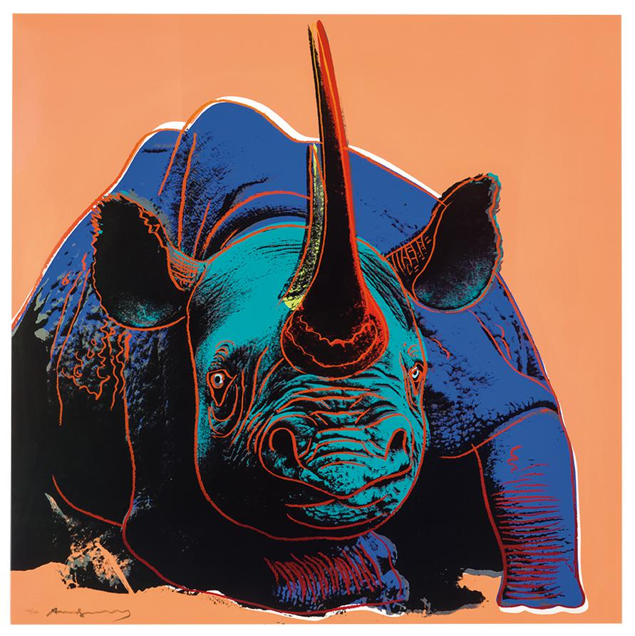 Andy Warhol-Black Rhinoceros (From Endangered Species Portfolio)-1983