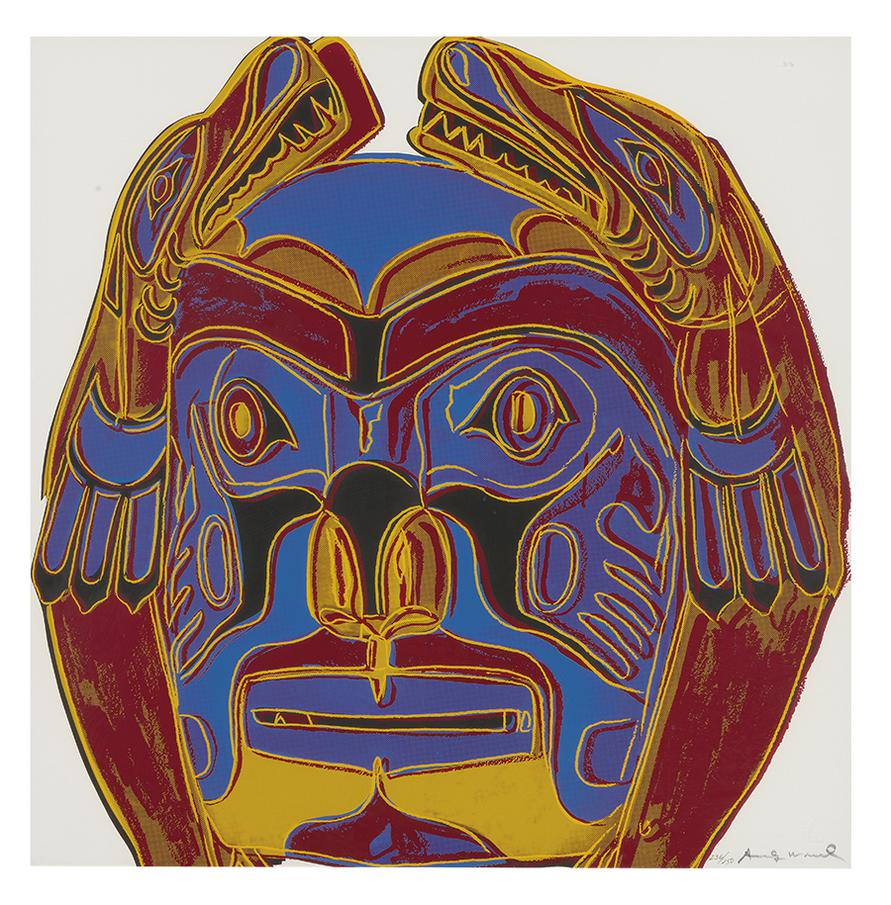 Andy Warhol-Northwest Coast Mask (From Cowboys And Indians)-1986