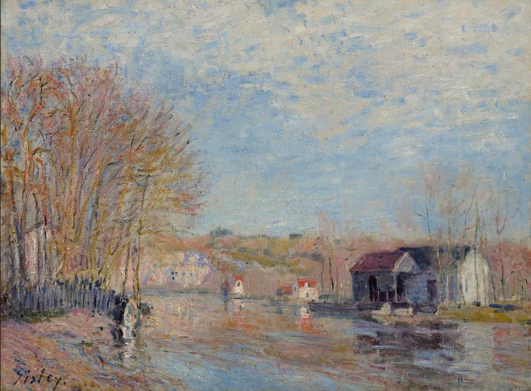 Alfred Sisley-Les Hautes Eaux A Moret-Sur-Loing-1879
