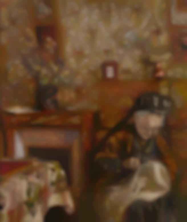 Edouard Vuillard-Madame Vuillard Cousant A La Closerie Des Genets-1921