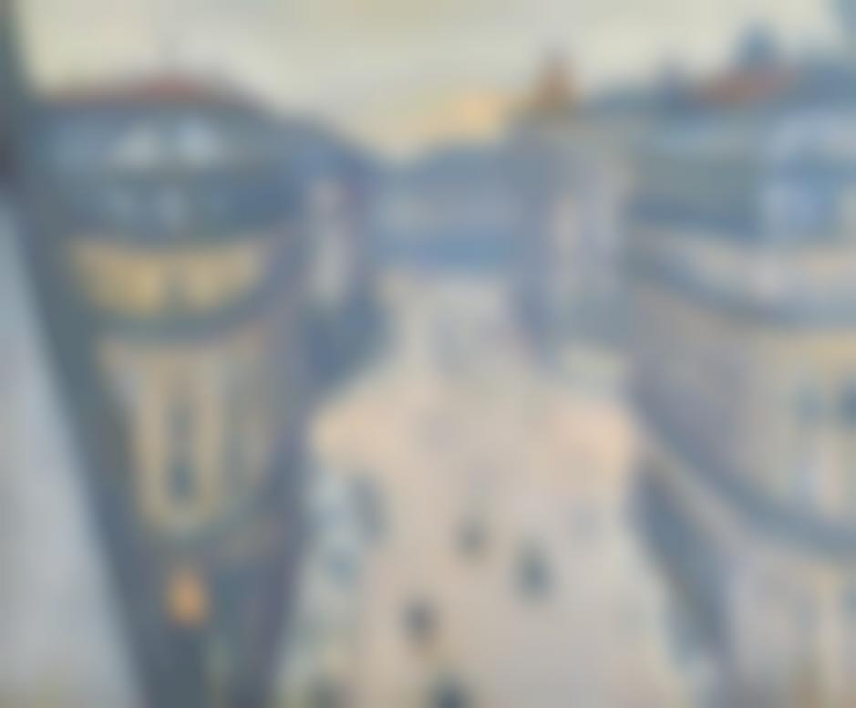 Gustave Caillebotte-La Rue Halevy, Vue Du Sixieme Etage-1878