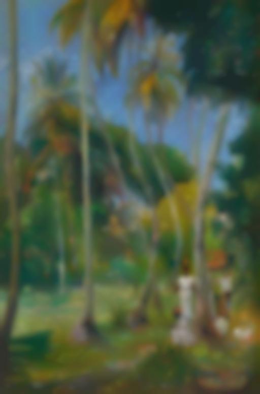 Paul Gauguin-Chemin Sous Les Palmiers-1887