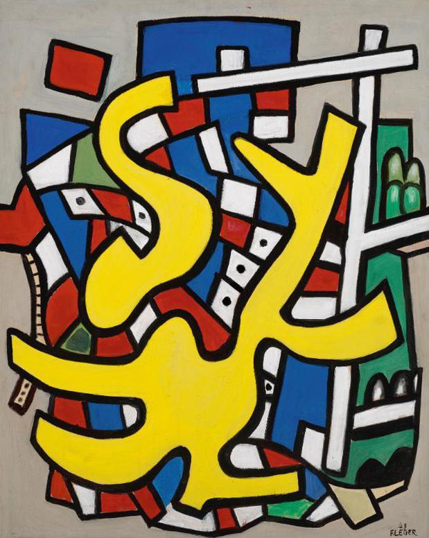 Fernand Leger-Peinture Murale Polychrome-1949