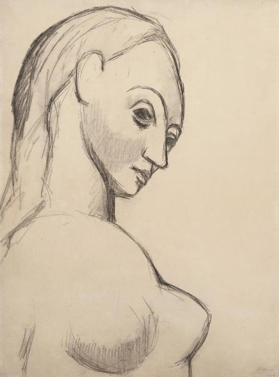 Pablo Picasso-Buste De Femme Nue-1906