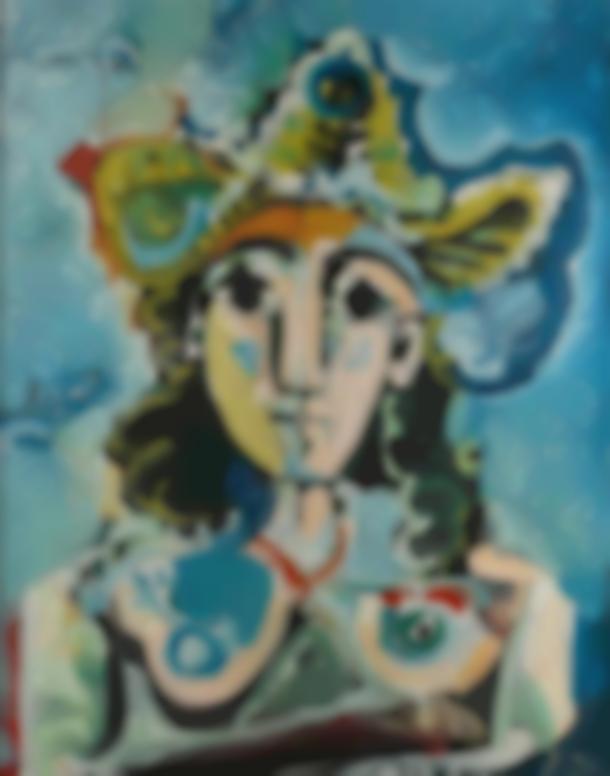 Pablo Picasso-Nu Au Chapeau, Buste-1965