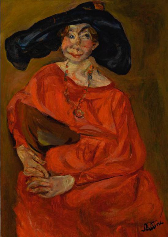 Chaim Soutine-La Femme En Rouge-1924