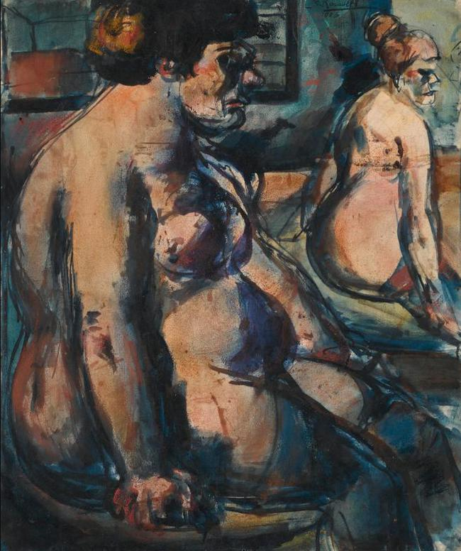 Georges Rouault-Deux Prostituees & Fille (A Double-Sided Work)-1906