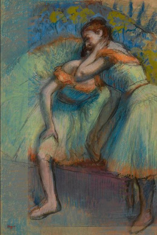 Edgar Degas-Deux Danseuses-1891