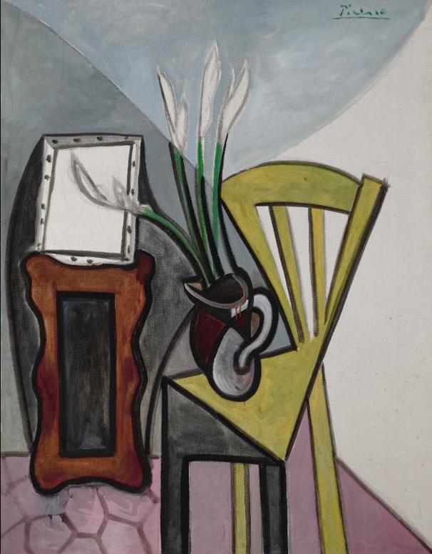 Pablo Picasso-Nature Morte A La Chaise Et Aux Glaieuls-1943