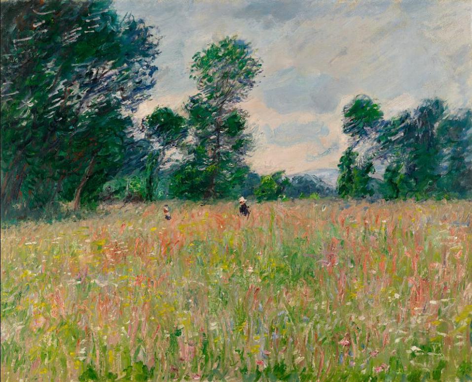 Claude Monet-La Prairie Fleurie-1885