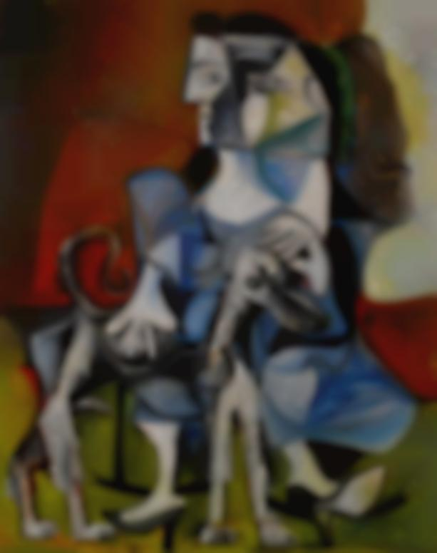 Pablo Picasso-Femme Au Chien-1962