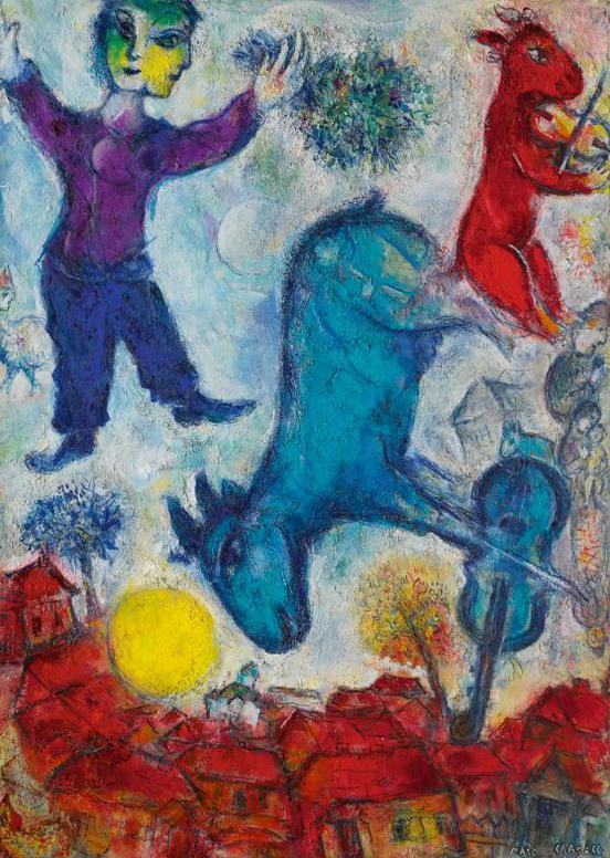 Marc Chagall-Le Paysan-1966