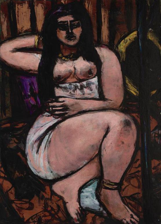 Max Beckmann-Liegender Akt In Starker Verkurzung (Reclining Nude Sharply Foreshortened)-1948