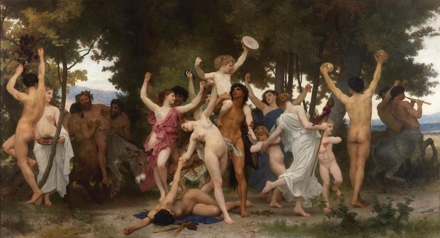 William Bouguereau - La Jeunesse De Bacchus-1884