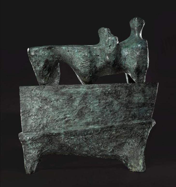 Henry Moore-Reclining Figure On Pedestal-1960