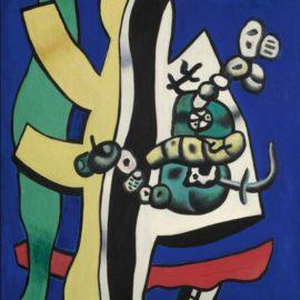 Fernand Leger-Nature Morte Aux Fruits Sur Fond Bleu-1939