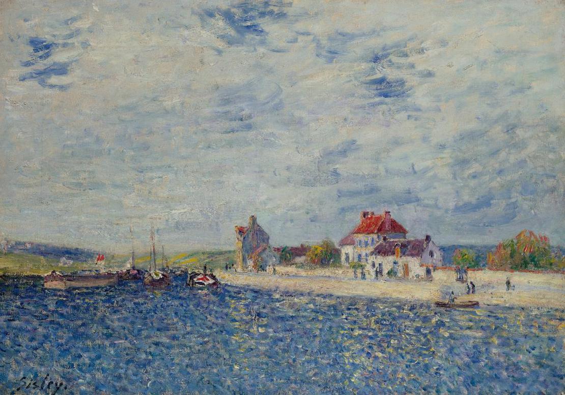 Alfred Sisley-Les Bords Du Loing A Saint-Mammes-1884