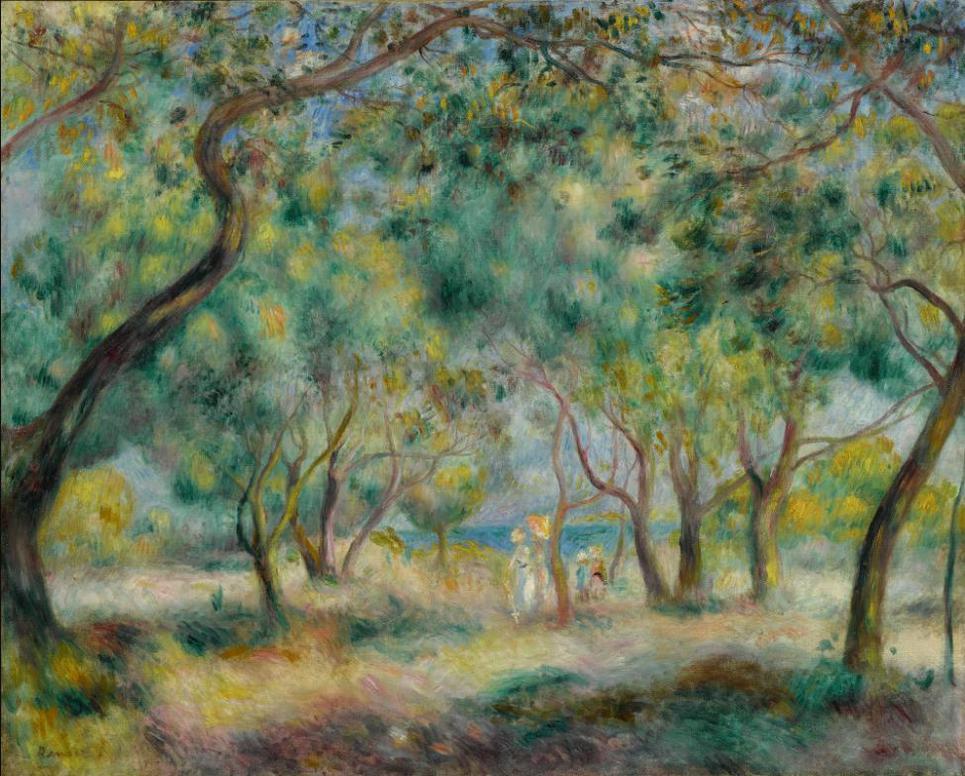 Pierre-Auguste Renoir-La Promenade Au Bord De La Mer (Le Bois De La Chaise Noirmoutier)-1892