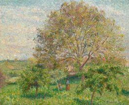 Camille Pissarro-Le Grand Noyer Au Printemps, Eragny-1894