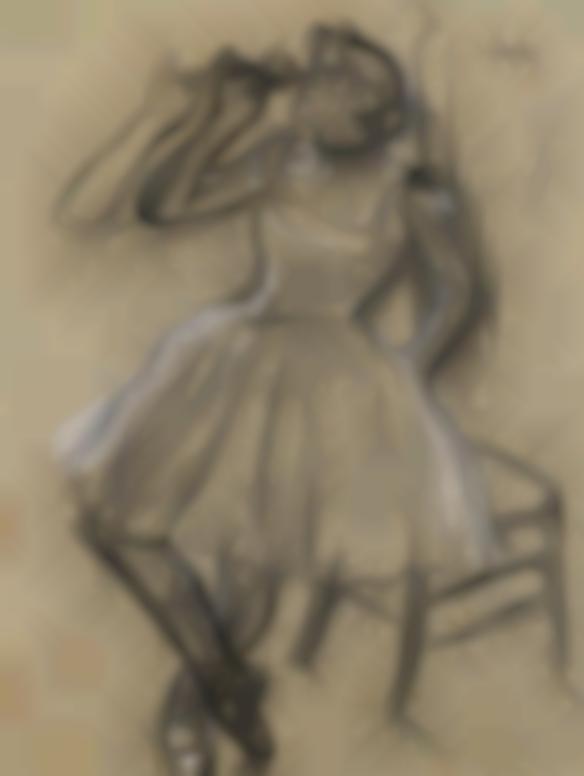 Edgar Degas-Danseuse A La Rose-