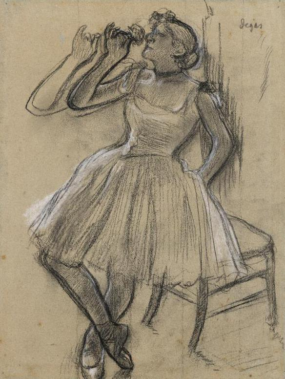 Edgar Degas-Danseuse A La Rose-