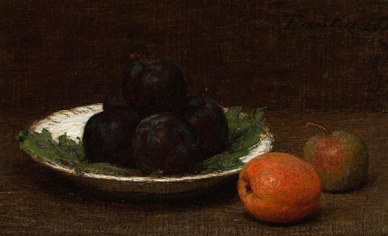 Henri Fantin-Latour-Nature Morte Aux Prunes-1880