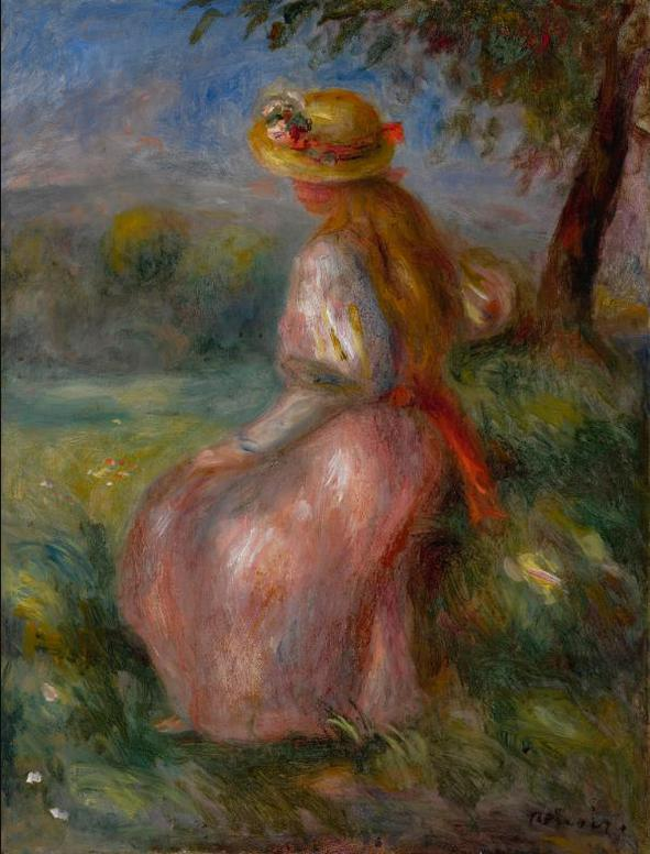 Pierre-Auguste Renoir-Jeune Fille En Rose-1905