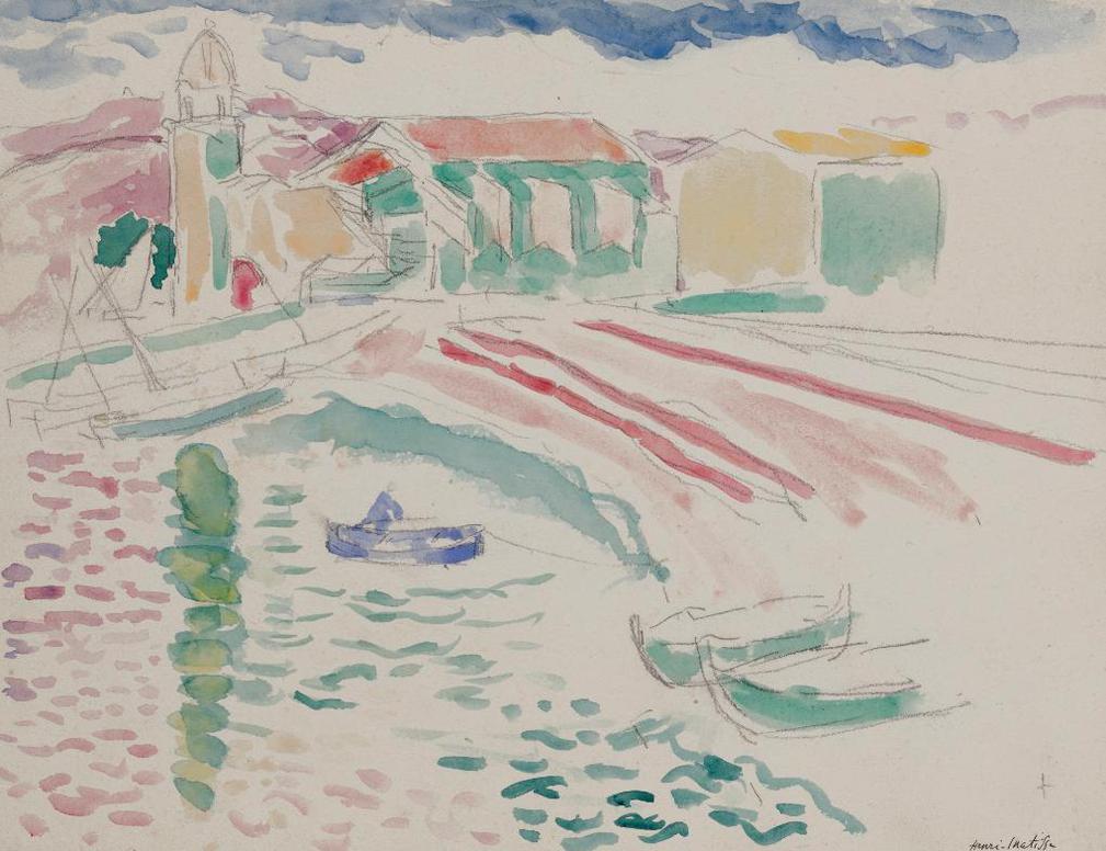 Henri Matisse-Collioure, Plage St. Vincent-1905