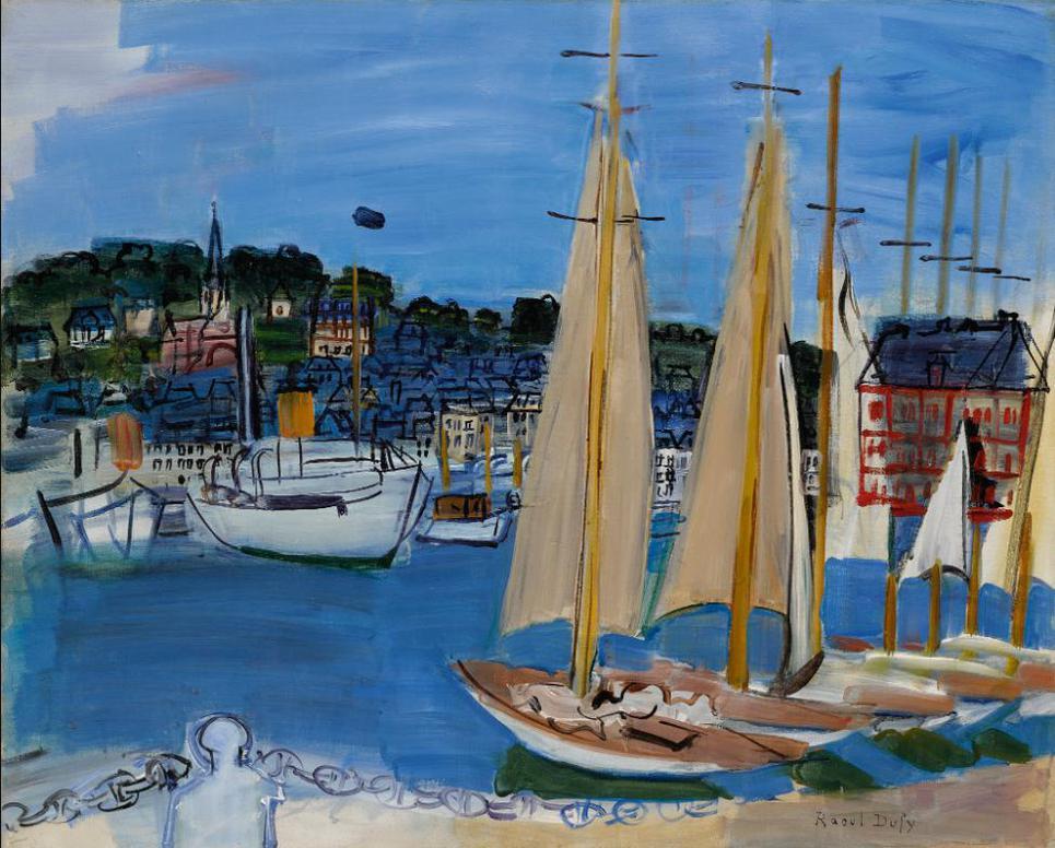 Raoul Dufy-Les Voiliers A Deauville-