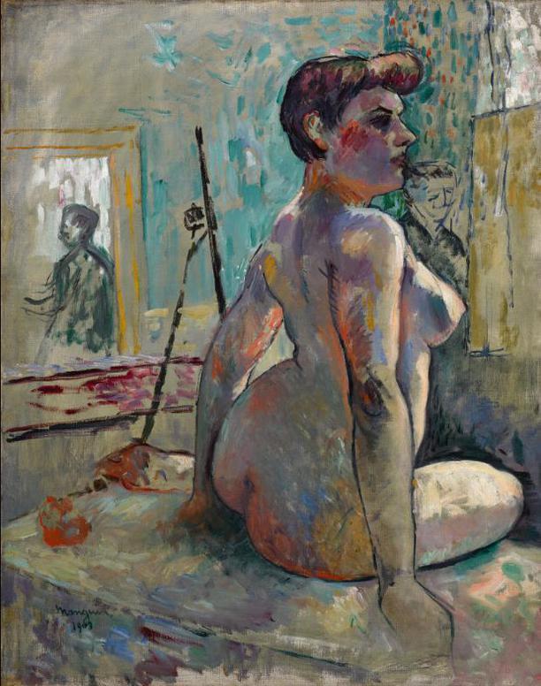 Henri Charles Manguin-Nu A Latelier (La Croupe, Rue Boursault)-1903