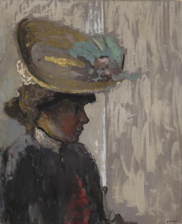 Edouard Vuillard-Modele Au Grand Chapeau-1912