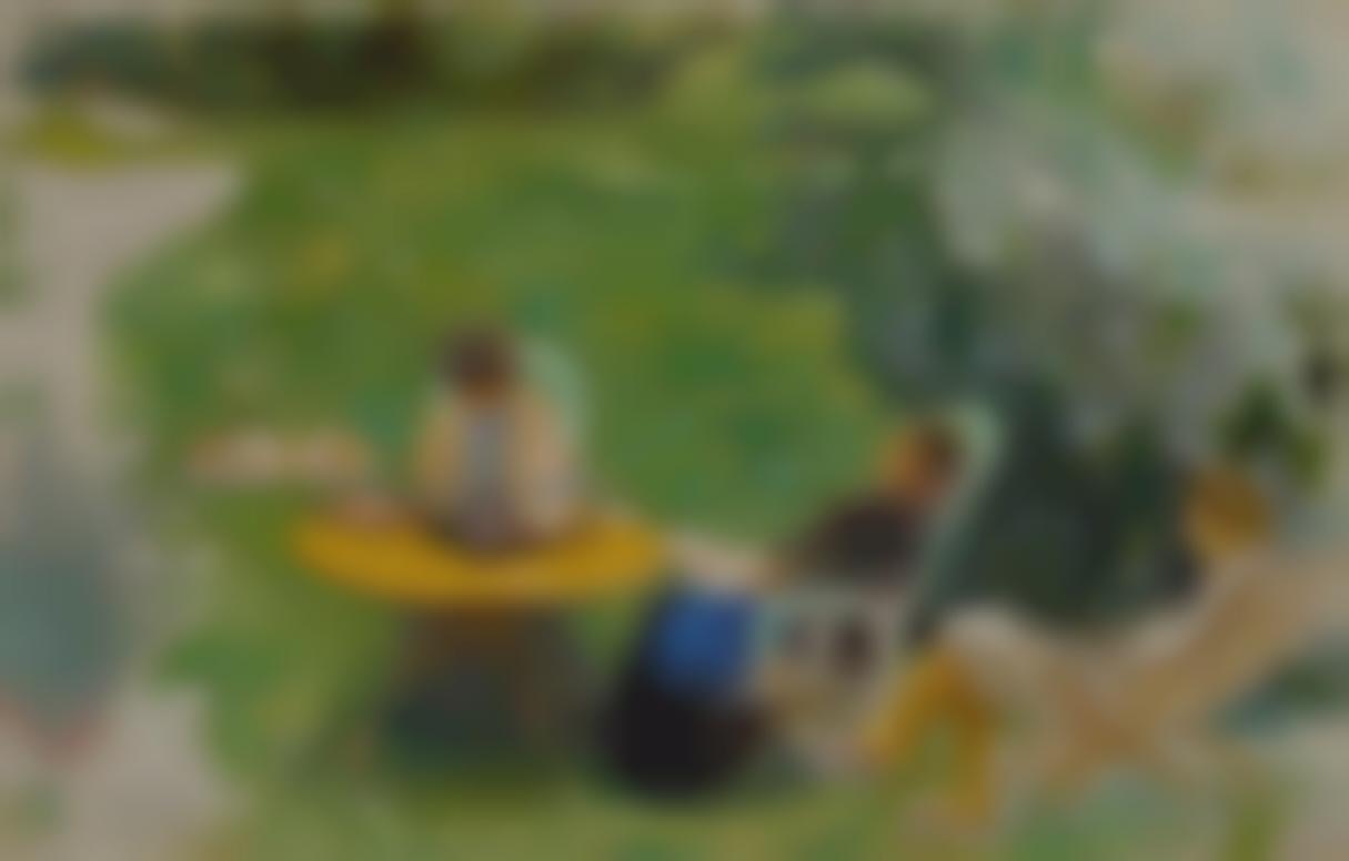 Pierre Bonnard-La Sieste Au Jardin-1900