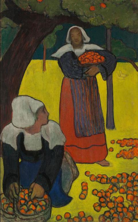 Emile Bernard-Bretonnes Ramassant Des Pommes-1889