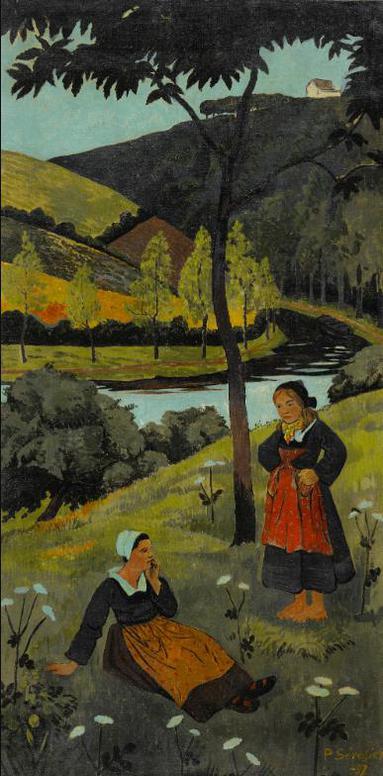 Paul Serusier-Deux Bretonnes Au Bord De Laulne-1897