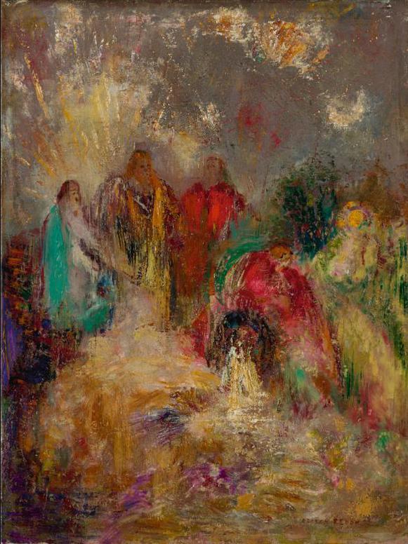 Odilon Redon-Le Christ Et Ses Disciples-1905