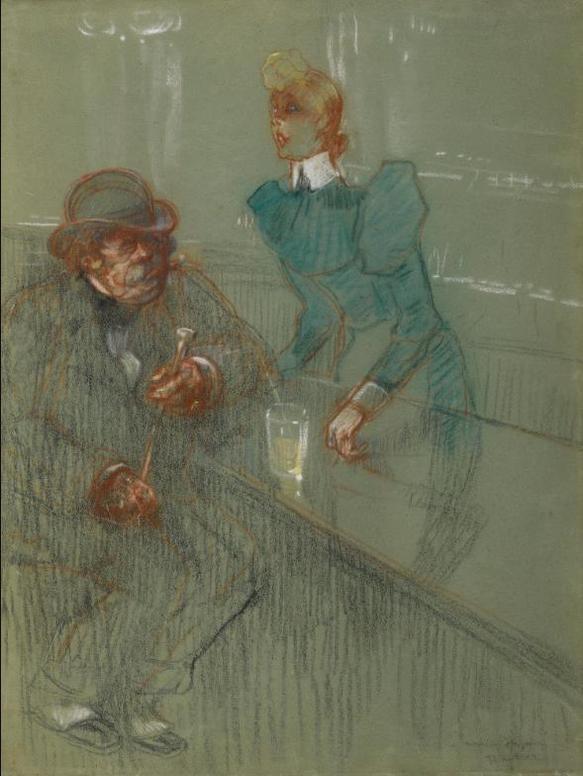 Henri de Toulouse-Lautrec-Bar-Maid-1898