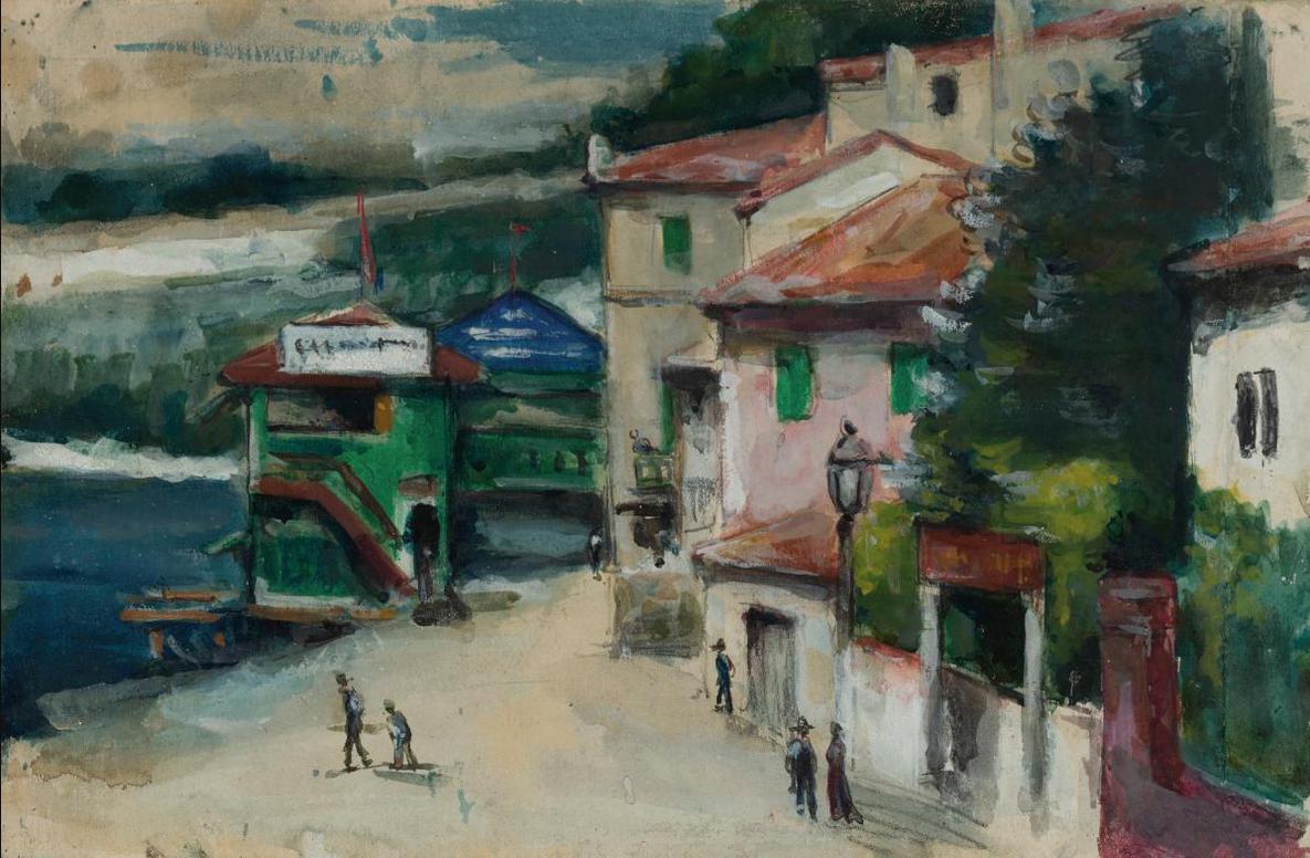 Paul Cezanne-Le Restaurant Mistral A Lestaque-1870
