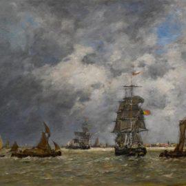Eugene Louis Boudin-Anvers, Gros Temps Sur Lescaut-1874