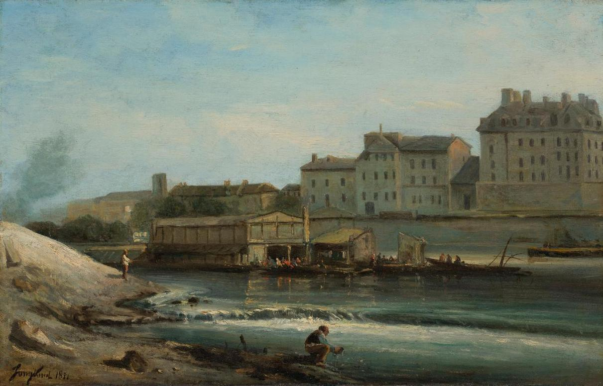 Johan Barthold Jongkind-Bords De Seine, Paris-1851