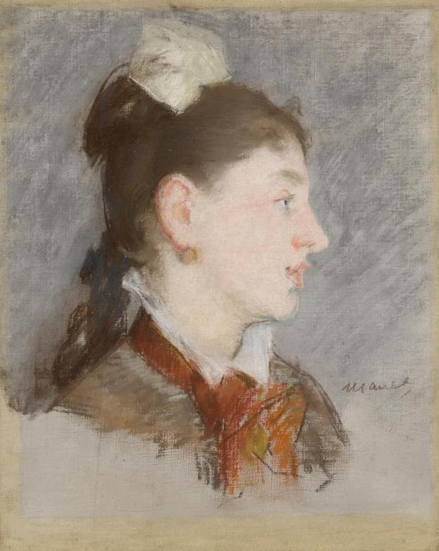 Edouard Manet-Jeune Fille Au Col Casse, De Profil-1880