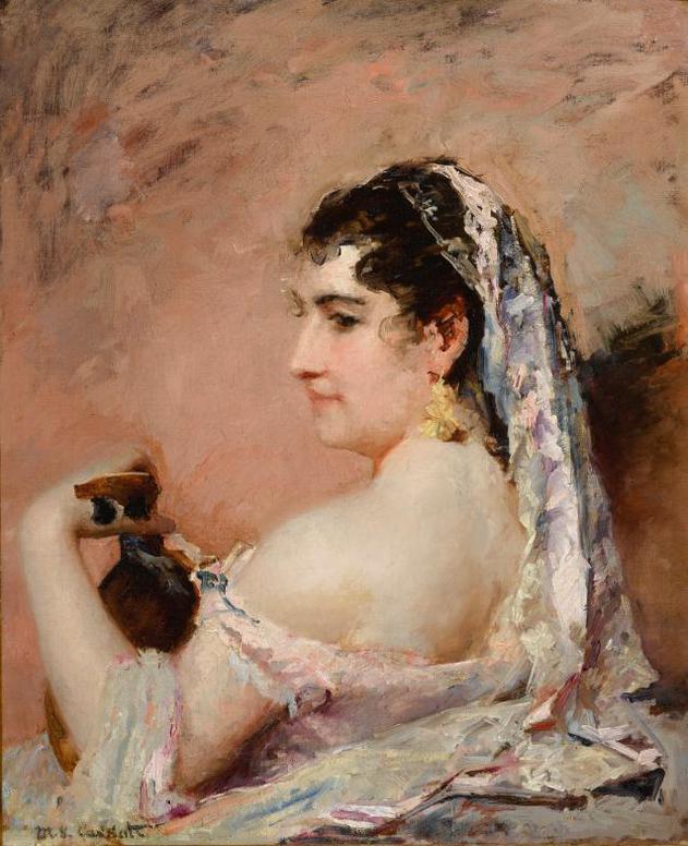 Mary Cassatt-Roman Girl-1874