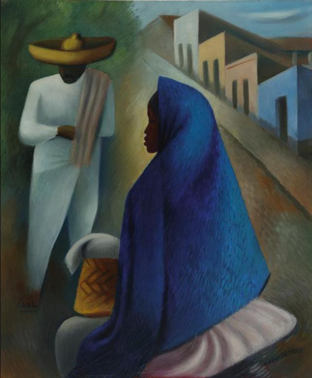 Miguel Covarrubias-Mexican Street Scene-1935