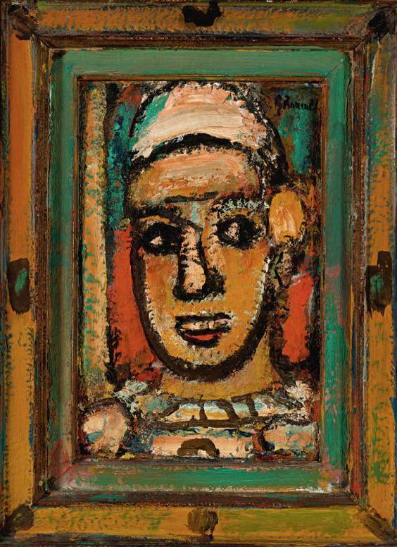 Georges Rouault-Tete De Clown-1952