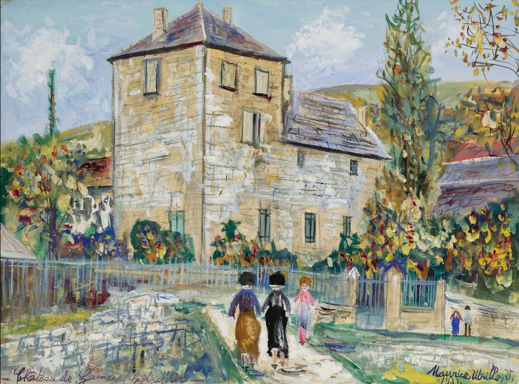 Maurice Utrillo-Chateau De Gamay (Cote-Dor)-1933