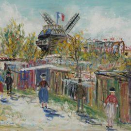 Maurice Utrillo-Montmartre, Moulin A La Galette