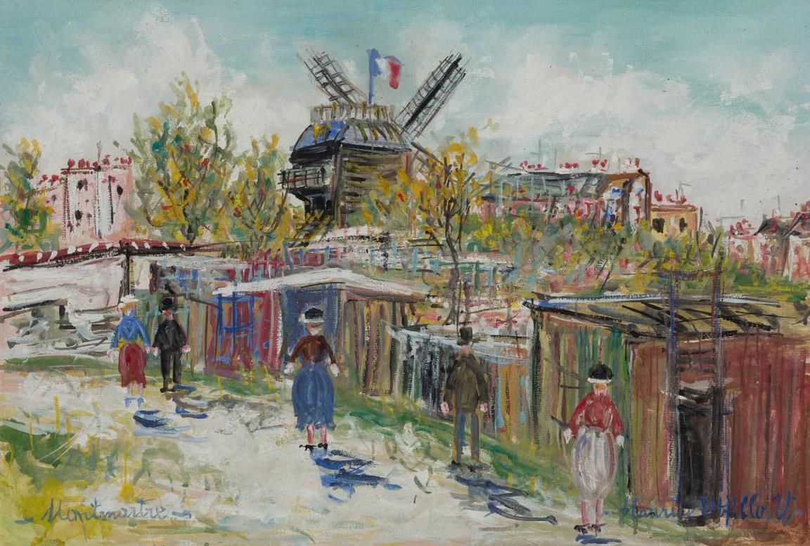 Maurice Utrillo-Montmartre, Moulin A La Galette-