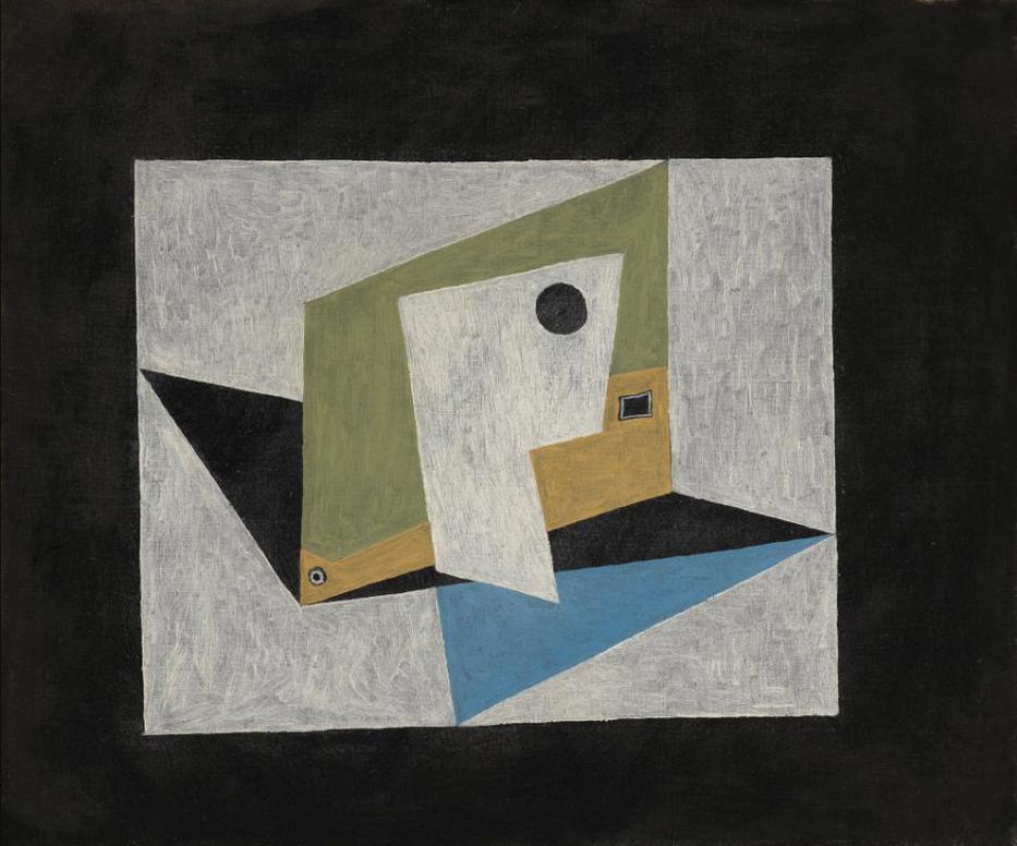 Pablo Picasso-Composition Aux Formes Geometriques (Pipes)-1918
