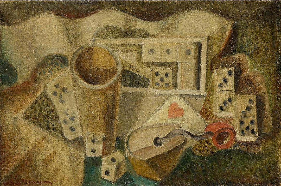 Andre Masson-Dominos Et Tabatiere-1925