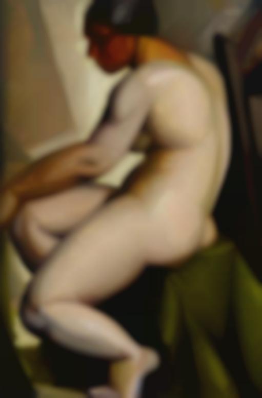 Tamara de Lempicka-Nu Assis De Profil-1923