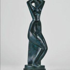 Alexander Archipenko-Femme Se Coiffant (Version B)-1914